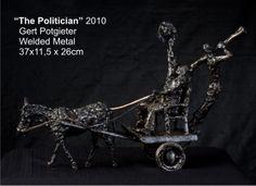 Metal Sculpture: Politician