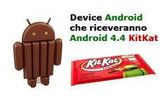 Lista dei dispositivi che riceveranno Android 4.4 KitKat (aggiornato il 1/11)