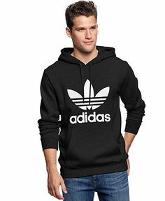 adidas Originals Men's Trefoil Hoodie, Black, Medium: Amazon