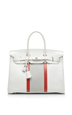 Hermes 35Cm White Clemence Club Birkin by Heritage Auctions Special Collection for Preorder on Moda Operandi
