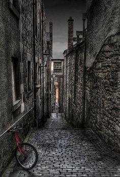 Streets of Edinburgh, Scotland.