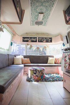 There are a few pretty simple strategies to produce your camper feel a bit more like home. A camper is something that you are able to make your own. Obviously, it doesn't matter what type of camper you have because… Continue Reading → Airstream Remodel, Airstream Interior, Campervan Interior, Camper Renovation, Trailer Remodel, Camper Remodeling, Trailer Interior, Bus Remodel, Airstream Decor