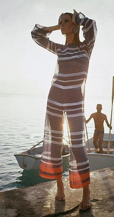 Veruschka Wearing Voile Cover-Up. Photographed by Louis Faurer in Barbados ca. 1965. © Condé Nast Archive/Corbis.