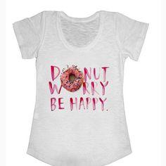 Camiseta Donut Worry Be Happy