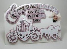 Cinderella Carriage and Horses Wedding Card, Cameo Ready