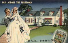 Rogers Paint Advertising Marriage & Wedding | vintage postcards