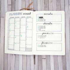nouveau bullet journal - planning annuel