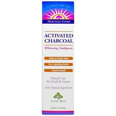 Heritage Products, Activated Charcoal Whitening Toothpaste, Fresh Mint, 5.1 oz (145 g)