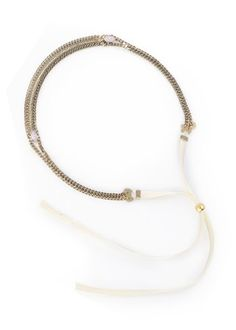 Ivory tie - Aged bronze brass - A headband that you can also wear as a necklace or a bracelet!