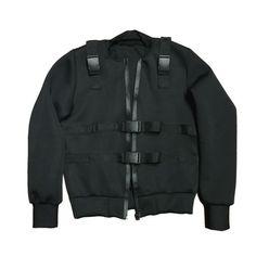 "By Kiy Online - CF-TECH Neoprene Bomber Jacket ""Black"" Black Bomber Jacket, Dom, The North Face, Tech, Sweatshirts, Sweaters, Jackets, Fashion, Down Jackets"