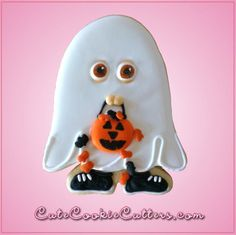 Ghost Costume Cookie Cutterby Cheap Cookie Cutters. Our ghost costume cookie cuttersare 4 inches tall, 3 inches wide, and aremade of tin-plated steel. Cleani