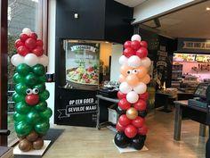 Ballonpilaar Kerstman en Kerstboom Hoge School Rotterdam
