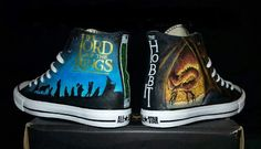 The lord of the rings and the hobbit Concerning Hobbits, Hand Painted Shoes, Geek Fashion, One Ring, Middle Earth, Lord Of The Rings, Tolkien, Lotr, The Hobbit