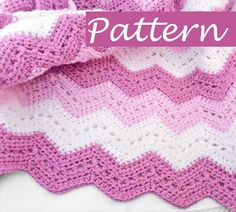 Items similar to Crochet chevron Baby Blanket in two shades of rose color and white / stroller size blanket for girls on Etsy Chevron Crochet Blanket Pattern, Baby Girl Crochet Blanket, Chevron Baby Blankets, Baby Boy Blankets, Baby Afghans, Afghan Crochet Patterns, Baby Patterns, Crochet Stitches, Crochet Blankets