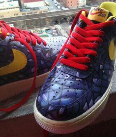 www.hiphopcloset.com - Blue Reptile Initial Custom AF1s Sneakers