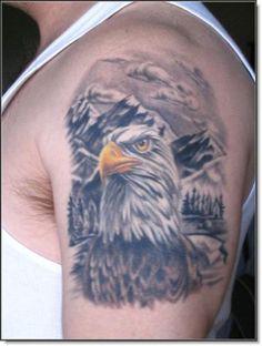 Bald Eagle Tattoos for Men Bald Eagle Tattoos, Bear Tattoos, Tatoos, Tattoo Graphic, Native American Women, Tattoo Inspiration, Tattoos For Guys, Watercolor Tattoo, Tatting