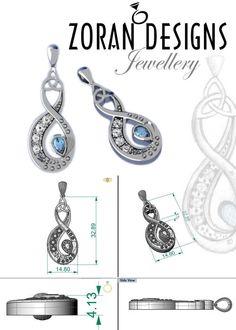 2eace7a21a4934 Custom Jewellery Infinity Strength Pendant — Zoran Designs Jewellery