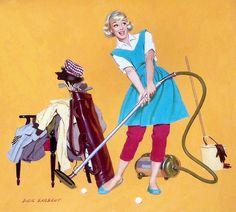 I like how she looks like she's about to go golfing.