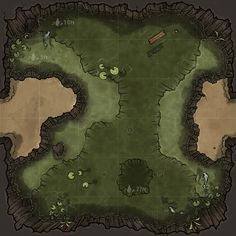 ArtStation - Dungeon Maps: Murky Waters, Michael Fitzhywel