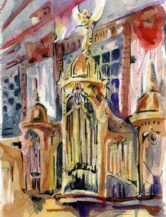 The Wanamaker's organ in Philadelphia. #draw365 #art #philly #fineartfriday
