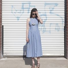 chambray midi dress via auraria.co