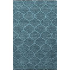 Surya Mystique Ava Peacock Green Hand Crafted Wool Rug ($77) found on Polyvore featuring home, rugs, handmade area rugs, peacock rug, handmade wool area rugs, textured rug and surya rugs