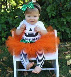 Pumpkin Tutu Costume // Orange Tutu // Halloween Pumpkin Costume