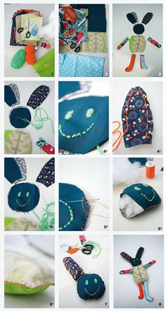 #DIY stuffed animal made off scraps of fabric - #101woonideeen.nl - Dutch interior and crafts magazine