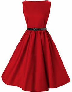 50s 60s style swing dancing dresses vintage inspired novelty red cotto