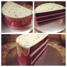 Half birthday cake Half Birthday Cakes, Baby Birthday, Birthday Parties, Girl Parties, Themed Parties, 6 Month Baby Picture Ideas, Girl Cakes, Cake Decorating, Decorating Ideas