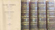 LA SACRA BIBBIA SECONDO VOLGATA Antonio Martini 4 volumi 1858 Morelli ILLUSTRATA