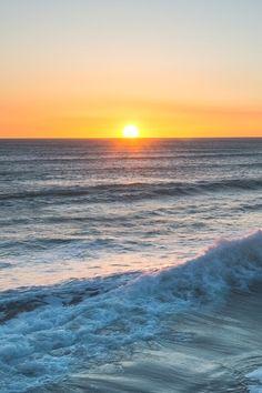 A magical sunset  on the beach   ☺