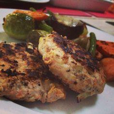 we have definitely gone orange (paleo chicken rissoles recipe). Paleo Recipes, Cooking Recipes, Savoury Recipes, Chicken Rissoles, Rissoles Recipe, Gluten Free Chicken, Paleo Dinner, Clean Eating, Gaps Diet
