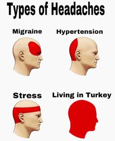 Types of Headaches | Know Your Meme Types of Headaches is a series of photoshopped images, which add a humorous fourth type of headache to a chart of real headaches. The user-added condition represents something that the meme's author dislikes or avoids. Read more at KnowYourMeme.com.