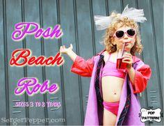 Posh Beach Robe FREE Pattern - Refashion July '14 - Serger Pepper