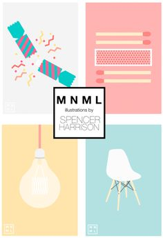 Spencer Harrison's minimal illustrations MNML Thing | About Pretty Blog