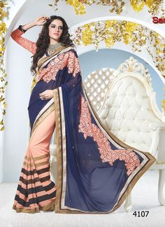 comfortable cream designer #saree with 50% discount at #craftshopsindia