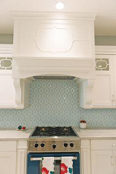 blue backsplash tiles white kitchen with blue backsplash tiles and blue range kitchen - Tile In The Kitchen