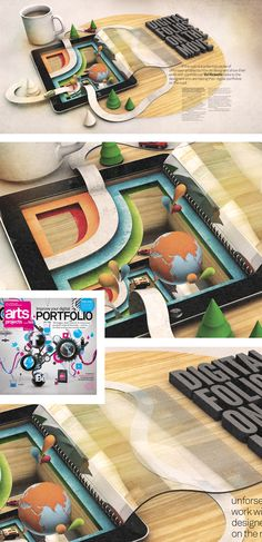 Barton Damer's iPad. Really nice piece.