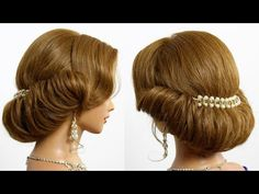 Bridal prom updo. Hairstyle for medium hair tutorial - YouTube