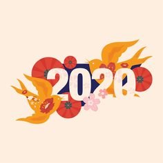 New Year 2020 on Behance New Year Logo, New Year 2020, Event Logo, Event Branding, Family Illustration, Graphic Design Illustration, Chinese New Year Design, Chinese Style, Festival Logo