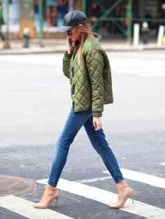 We Wore What Winter Wardrobe Ideas Fall Outfit Ideas Skinny Jean Outfit Ideas Quilted Jacket Sport Street Style, Sport Style, Street Style Looks, Street Chic, Street Wear, Sport Luxe, Sport Chic, Casual Chic, Tomboy Chic