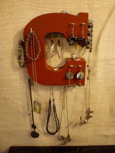 Upcycled Jewelry Organizing Display C by KelkoDesign on Etsy, $15.00