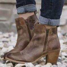 Details about  / Women Fashion Biker Low Heel Round Toe Solid Comfort Ankle Boots 41//42 Punk L