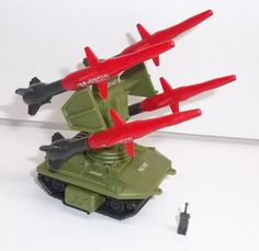 The PAC RAT missile launcher, a remote control drone from the G.I.Joe line of toys