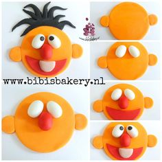 Last week I posted a pictorial how to make Ernie as a topper. Here is the matching cupcake, xxx Bibi  https://www.facebook.com/bibisbakery.nl  #bibisbakery