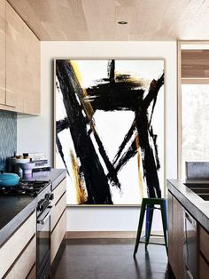 Price from 117 Large Original Abstract Painting On Canvas Black and White TG Price from 117 Large Original Abstract Painting On Canvas Black and White Rectangle painting Size from 24 8243 8243 handmade Acrylic from Studio Trend Gallery To Black Canvas Art, Large Canvas Art, Black And White Wall Art, Black And White Painting, Large Abstract Wall Art, Large Wall Art, Minimal Art, Decoration, Illustration