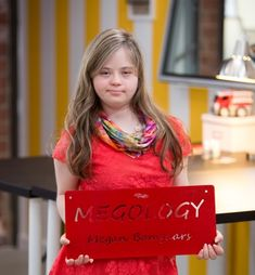 Megology Megan Bomgaars is a well known self-advocate with Down Syndrome, an artist and a rising entrepreneur. Loving to share her life experiences with others, she has developed her skills as a public speaker and travels across the country giving keynote speeches and presentations on a variety of topics.