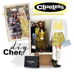 """DIY Halloween: Cher from Clueless"" by sportsonista ❤ liked on Polyvore featuring SilverStone, Wet Seal, Topshop, Whistles, Gucci, MANGO and Sergio Rossi"
