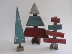 Check out this item in my Etsy shop https://www.etsy.com/listing/256060103/reclaimed-wood-christmas-tree-set